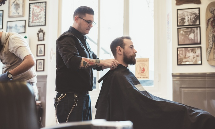 Style cut neck and sideburn tidy the gentlemen 39 s club - Barber vs hair salon ...