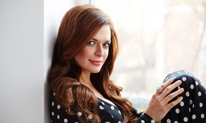 Saints-N-Scissors: Haircut with Conditioning Treatment or Single-Process Color at Saints-N-Scissors (Up to 59%Off)