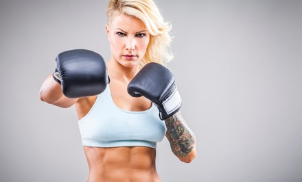 Five One-Hour Sessions or One Month of Unlimited Cardio Kickboxing at Thrive Training Center (Up to 67% Off)