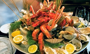 Marakesh - Corniche Abu Dhabi: Seafood Buffet with Soft Drinks or Water for Up to Six at Marakesh, Corniche Hotel Abu Dhabi (Up to 57% Off)