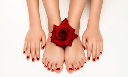 image for Mani-Pedi Services at Elle Beauty Bar and Spa (Up to 47% Off). Three Options Available.