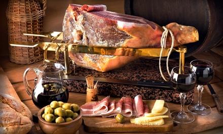 Cata de cinco quesos y jamón ibérico con maridaje para 2, 4, 6, 8 o 15 personas desde 9,95 € en Villa Pastora