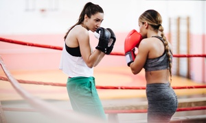 Hop.Skip.Punch!: 10 Boxing Fitness Sessions for One ($19) or Two People ($35) at Hop.Skip.Punch! (Up to $340 Value)