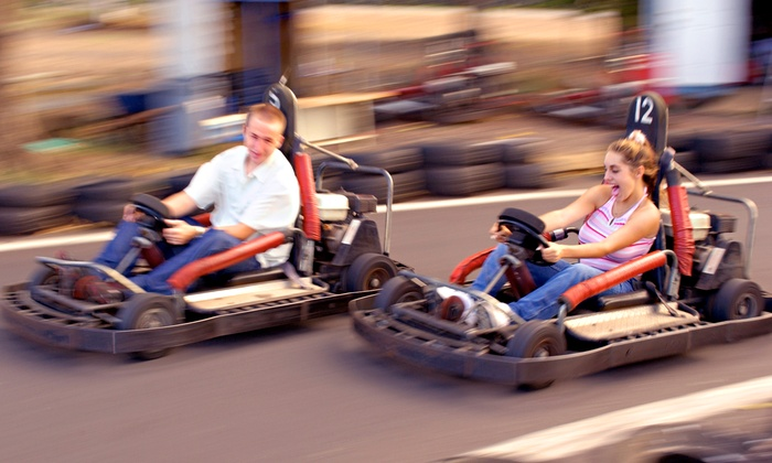 Happy Days Family Fun Attractions - Happy Days Arcade: Laser-Tag and Bumper-Car Package or Go-Karts and Arcade Package at Happy Days Family Fun (Up to 45% Off)