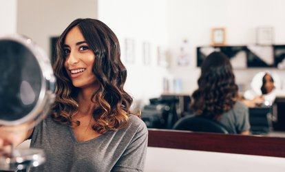 Haircut, Wash, Blow-Dry, Style, and Partial <strong>Highlights</strong> or Balayage at Headcases Studio (Up to 75% Off)
