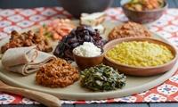 Äthiopisches All-you-can-eat-Buffet und äthiopischer Kaffee für 2 oder 4 Personen im Mengesha Piazza