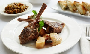 Greek Island Grill and Bar: $30 for a Two-Course Greek Dinner with Drinks for Two at Greek Island Grill and Bar (Up to $50 Value)