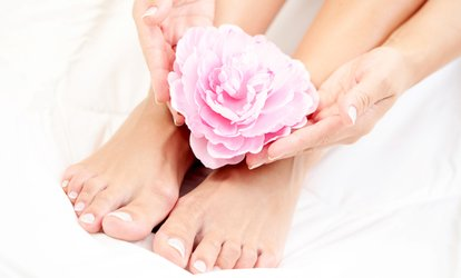 image for Classic Mani-Pedi, Shellac Manicure, or SNS Dipping Powder at V Beauty Studio (Up to 40% Off)