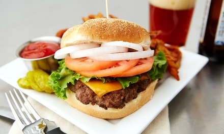 Burger, Chips and Drink for One, Two or Four at Gru Bar