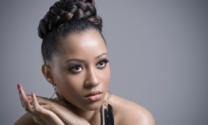Touched by Kia: Wash and Set, Haircut, Sew-In Weave Application and Style, or Box Braids at Touched by Kia (Up to 56% Off)