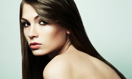 Global Keratin Treatment or Keratin Treatment with Haircut at M Salon (Up to 67% Off)