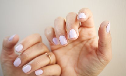 Luxury Manicure or Pedicure at Obersteller Beauty, Lashes, Makeup & Massage Treatments  (50% off)