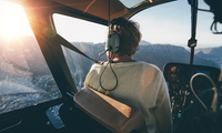 """15 Min. Rundflug für 1 Person oder """"Pilot für 1 Tag"""" – 15 Min. selber fliegen mit Helicopter-Fly (bis zu 76% sparen*)"""