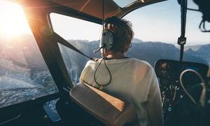 """Helicopter Fly: 15 Min. Rundflug für 1 Person oder """"Pilot für 1 Tag"""" – 15 Min. selber fliegen mit Helicopter-Fly (bis zu 76% sparen*)"""