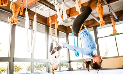 image for One or Five Aerial Yoga Classes at Elite Fitness Training Studio (Up to 34% Off)