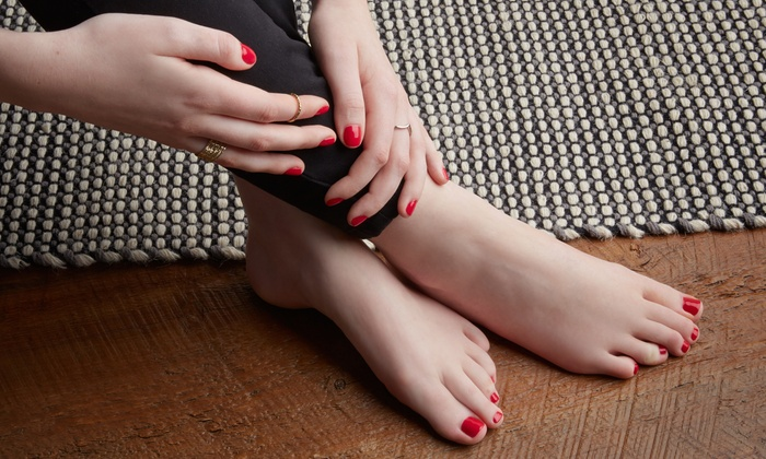 Shellac Manicures and Spa Pedicures at Allure Spa & Salon (Up to 35% Off). Five Options Available.
