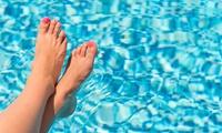Kosmetische Fußpflege oder Maniküre inkl. Shellac und Pediküre bei Nail & Art Designs By Sevilay (bis zu 49% sparen*)