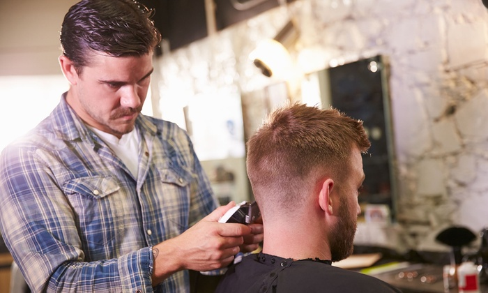 Penski Salon - Sherman: One or Three Men's Haircuts or a Haircut with Massage and a Steam Towel (Up to 68% Off)
