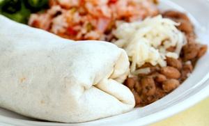 El Burrito Loco - Castro Valley: Mexican Cuisine at El Burrito Loco - Castro Valley (Up to 30% Off). Two Options Available.