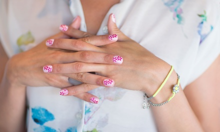 Special Manicure or Pedicure at 5 Stars Hair and Nails (Up to 44% Off)