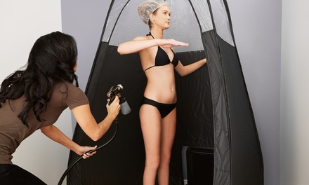 FullBody Spray Tan: One $19 or Two Sessions $35 at Silk Blonde Up to $80 Value