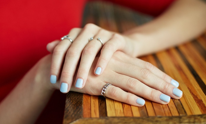 The Main Salon - Art District: One Shellac Manicure at The Main Salon (51% Off)