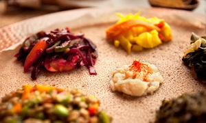 Addis Ababa Restaurant: Ethiopian Food and Drinks at Addis Ababa Restaurant (Up to 47%Off). Four Options Available.
