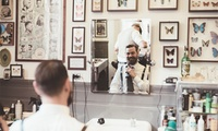 Men's Haircut and Shave with Optional Mani-Pedi, Hand and Foot Spa and Facial at Volume Gents Salon (Up to 62% Off)