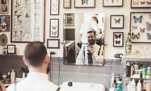 Volume Gents Salon: Men's Haircut and Shave with Optional Mani-Pedi, Hand and Foot Spa and Facial at Volume Gents Salon (Up to 62% Off)