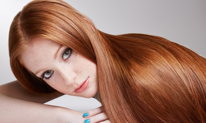 Val El Salon and Spa - Upper East Side: Haircut Package, Balayage Highlights, or Cezanne Keratin Treatment at Val El Salon and Spa (Up to 72% Off)