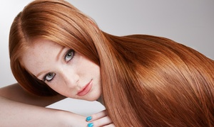 E. Scissorhands: Wash, Cut, Blow-Dry and Conditioning or Highlights at E. Scissorhands (Up to 72% Off)