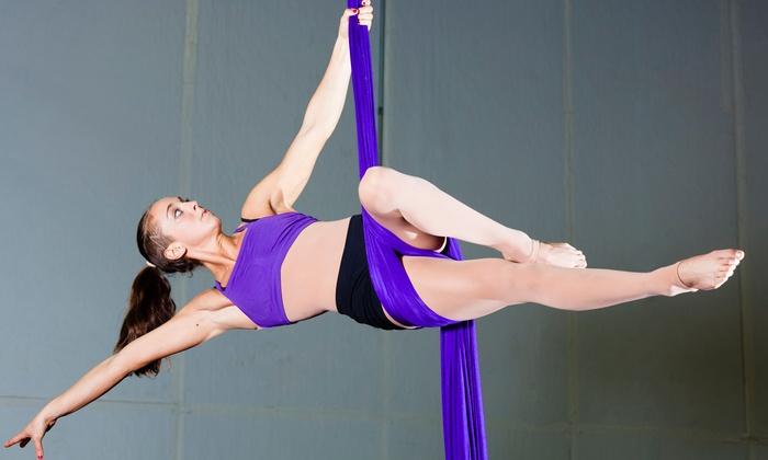 Polegression - Boston Pole Fitness (Original) - Allston: $119 for 10 Silk or Aerial Hoop (Lyra) Classes at Polegression - Boston Pole Fitness ($250 Value)