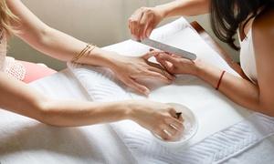 Nail & Art Designs By Sevilay: Maniküre mit Shellack inkl. Hand-Massage, opt. mit Handbad oder Paraffinbad, bei Sevilay (bis zu 58% sparen*)
