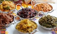 Spicy-Yamas-Platte mit 10 afrikanischen Spezialitäten für 2 oder 4 in Steppers Restaurant & Lounge (bis zu 53% sparen)