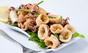 ALLA VECCHIA FAVORITA: Menu di pesce con antipasto, 1 kg di frittura mista, dolce e vino da Alla Vecchia Favorita (sconto 62%)
