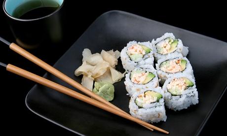Menú japonés para 2 o 4 con 8 o 16 platos y bebida desde 24,99 € en Komaki Sushi Oferta en Groupon