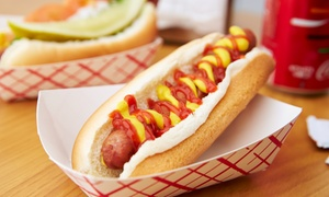 Hangar Cafe QV: Hot Dog and Can of Soft Drink for One ($4.50) or Two ($8.50) People at Hangar Cafe (Up to $15 Value)