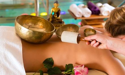 1x oder 2x 60 Min. Klangschalen-Massage inkl. Vorgespräch in der Hypnosepraxis Dennis Förster (bis zu 80% sparen*)