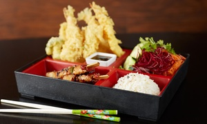 Tara Sushi Bar: Bento Box with a Drink for One ($8) or Two People ($16) at Tara Sushi Bar (Up to $39 Value)