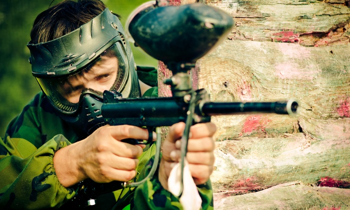 Frontline Paintball - Formby: Paintball with 100 Paintballs for Up to 15 at Frontline Paintball (Up to 94% Off)