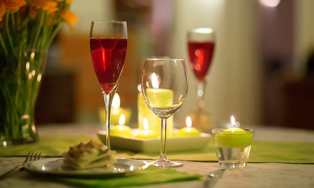 ThreeCourse Romantic Dinner with a Glass of Bubbly for Two at 5* The Manor Hotel