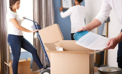 image for Three, Five, or Eight Hours of Moving Services from Amigos Movers (Up to 54% Off)