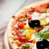 Menu pizza con bruschette, dolce e birra
