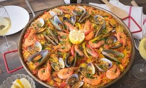 La Galiotte: Menu avec verre de vin, paella et dessert pour 1 ou 2 personnes dès 11,90 € au restaurant La Galiotte