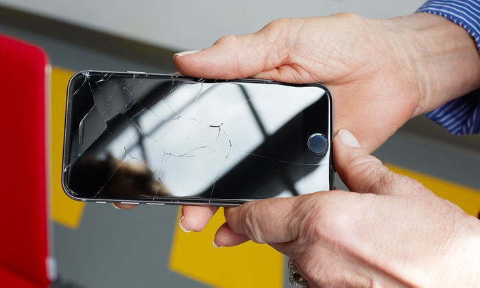 Screen Glass Replacement for iPhone, iPad, or Samsung Galaxy at Hi-Tech Gadgets Repair Center (Up to 40% Off)