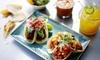 Menú mexicano con margarita