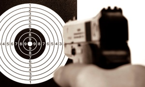 Take Aim Gun Range Inc.: Shooting-Range Package with a Pistol or Rifle at Take Aim Gun Range Inc. (Up to 35% Off)