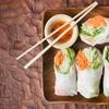 Aperitivo vegan sushi e vino Bio