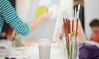 3 Std. Intensiv-Kunstkurs für 1 oder 2 Personen bei Quermalerei (bis zu 69% sparen*)