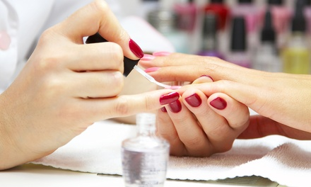 One or Two Gel Manicures from Lyna at Le Wink Nail Spa and Wax (Up to 42% Off).